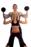 Personal Trainers. A team of personal trainers in the gym working out together Stock Image