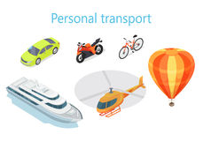 Personal Transport Infographic Statistics of Usage Stock Photos