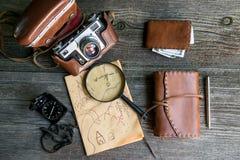 Adventure seeker set Stock Photo