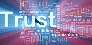 Personal trust background concept glowing Stock Images