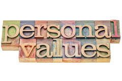 Personal values word abstract Royalty Free Stock Images