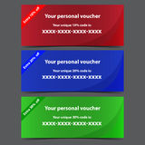 Personal vouchers Royalty Free Stock Photography