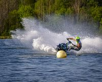 Personal water craft racer royalty free stock photography