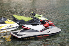 Personal water crafts Royalty Free Stock Images