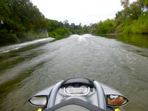 Personal Watercraft Riding on the Kings River Stock Photo