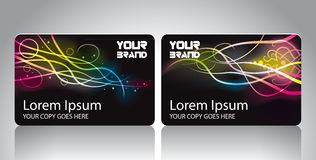 Personal Wave Cards Stock Photography