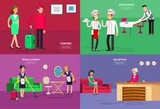 Personal y servicio del hotel libre illustration