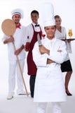Personale del ristorante Immagini Stock