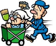 Personale di pulizia Immagini Stock