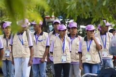 Personale di votazione nelle elezioni di Timor orientale Fotografia Stock