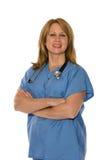 Personale medico isolato su bianco Fotografia Stock Libera da Diritti