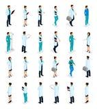 Personale medico isometrico, medico, chirurgo, infermiere royalty illustrazione gratis