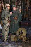 Personale militare tedesco e sovietico di WW2. Fotografia Stock