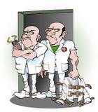 Personale sanitari dall'ospedale psichiatrico Immagine Stock