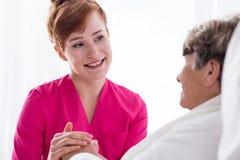 Personale sanitario sorridente positivo Fotografia Stock