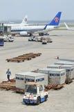 Personale a terra all'aeroporto internazionale del capitale di Pechino Fotografia Stock