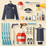 Personale uniforme e stabilito di sicurezza di protezione illustrazione di stock