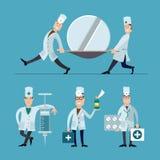 Personales médicos stock de ilustración