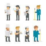 Personales planos del restaurante del diseño Fotos de archivo