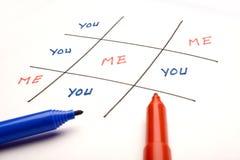 Personalidad del ego/de la confianza Imagen de archivo libre de regalías