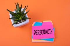 Personalidade, conceito do negócio fotos de stock