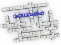 a personalidade da imagem 3d emite o fundo da nuvem da palavra do conceito Fotos de Stock Royalty Free