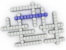 a personalidade da imagem 3d emite o fundo da nuvem da palavra do conceito Imagens de Stock Royalty Free
