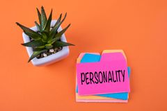 Personalità, concetto di affari fotografie stock