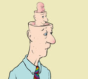 Personality. Cartoon of man depicting personality disorder Royalty Free Stock Photo