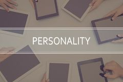 PERSONALITY CONCEPT Business Concept. Business Concept royalty free stock image