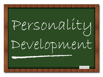 Personality Development. Text on a classroom board vector illustration