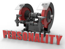 Personality on a grinder concept Stock Photo