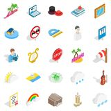 Personality icons set, isometric style Royalty Free Stock Images