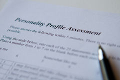 Personality Profile Assessment Royalty Free Stock Photo