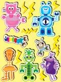 Personality Robot Set_eps Royalty Free Stock Image