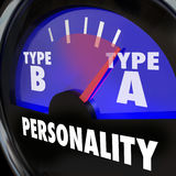Personality Test Guage Type A High Stress Anxiety Workaholic Amb Stock Photos