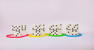 Personality traits concept based on colour types. Dominance, inducement, submission, and compliance. Group of Domino Stock Photography