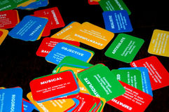 Personality Types. Cards describing personalities Stock Photo