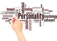 Personality word cloud hand writing concept stock image