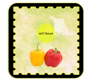 Personalizable Label - Italian. Labels - Label for alimentary products - peppers. Italian language Royalty Free Stock Photo