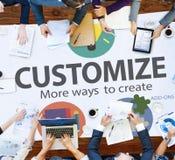 Personalize ideias a inovação da individualidade que da identidade personaliza o Co fotos de stock