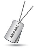 Personalized army tags Royalty Free Stock Photos