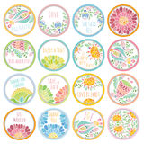 Personalized Candy Sticker Labels big set Royalty Free Stock Photography