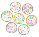 Personalized Candy Sticker Labels Royalty Free Stock Photos