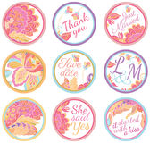 Personalized Candy Sticker Labels Stock Images