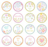 Personalized Candy Sticker Labels Stock Photo
