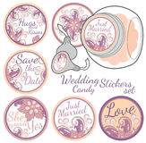 Personalized Candy Sticker Labels set Royalty Free Stock Images