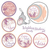 Personalized Candy Sticker Labels set Stock Image