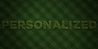 PERSONALIZED - fresh Grass letters with flowers and dandelions - 3D rendered royalty free stock image. Can be used for online banner ads and direct mailers vector illustration