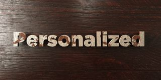 Personalized - grungy wooden headline on Maple - 3D rendered royalty free stock image. This image can be used for an online website banner ad or a print stock illustration